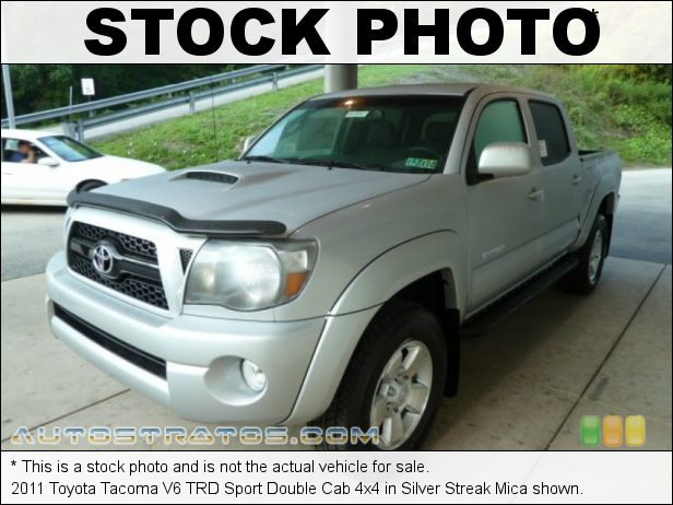 Stock photo for this 2011 Toyota Tacoma Double Cab 4x4 4.0 Liter DOHC 24-Valve VVT-i V6 5 Speed Automatic