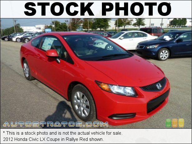 Stock photo for this 2012 Honda Civic LX Coupe 1.8 Liter SOHC 16-Valve i-VTEC 4 Cylinder 5 Speed Automatic
