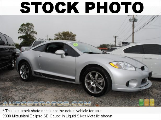 Stock photo for this 2008 Mitsubishi Eclipse SE Coupe 2.4L SOHC 16V MIVEC Inline 4 Cylinder 4 Speed Sportronic Automatic