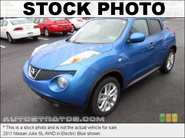 Stock photo for this 2011 Nissan Juke SL AWD 1.6 Liter DIG Turbocharged DOHC 16-Valve 4 Cylinder Xtronic CVT Automatic