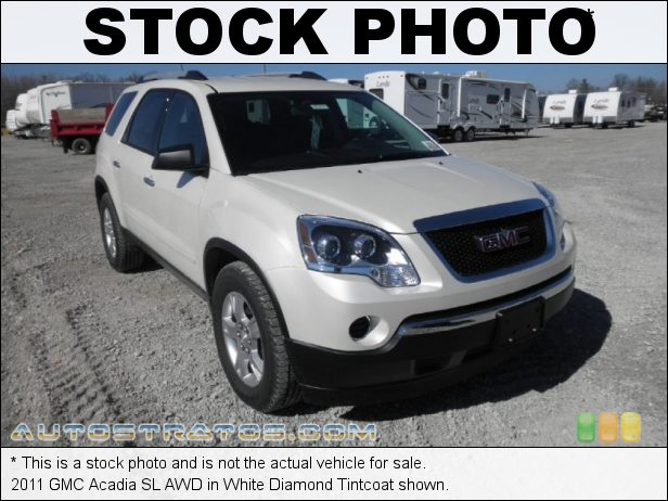 Stock photo for this 2011 GMC Acadia SL AWD 3.6 Liter DI DOHC 24-Valve VVT V6 6 Speed Automatic