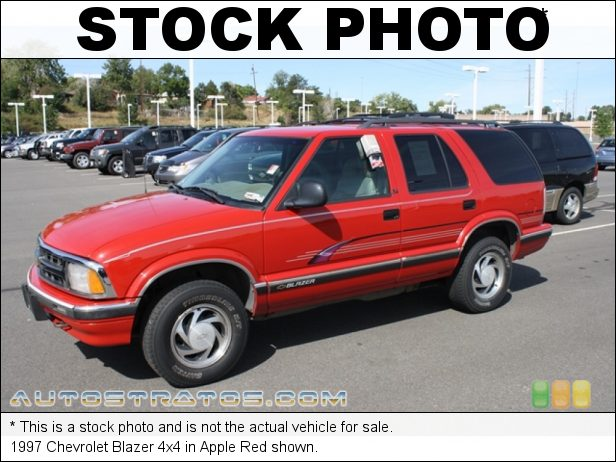 Stock photo for this 1997 Chevrolet Blazer 4x4 4.3 Liter OHV 12-Valve V6 4 Speed Automatic