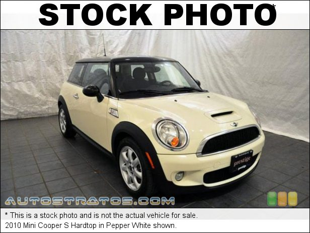 Stock photo for this 2010 Mini Cooper S Hardtop 1.6 Liter Turbocharged DOHC 16-Valve VVT 4 Cylinder 6 Speed Steptronic Automatic