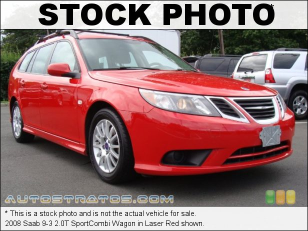 Stock photo for this 2008 Saab 9-3 2.0T SportCombi Wagon 2.0 Liter Turbocharged DOHC 16-Valve 4 Cylinder 5 Speed Sentronic Automatic