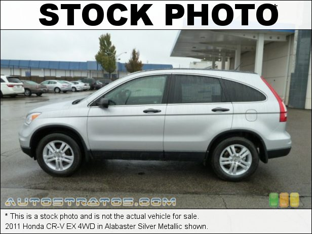 Stock photo for this 2011 Honda CR-V EX 4WD 2.4 Liter DOHC 16-Valve i-VTEC 4 Cylinder 5 Speed Automatic