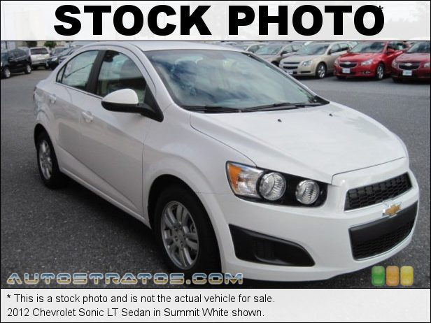 Stock photo for this 2012 Chevrolet Sonic LT Sedan 1.8 Liter DOHC 16-Valve VVT 4 Cylinder 6 Speed Automatic