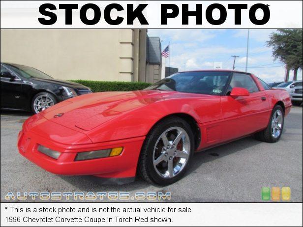Stock photo for this 1996 Chevrolet Corvette Coupe 5.7 Liter OHV 16-Valve LT1 V8 4 Speed Automatic