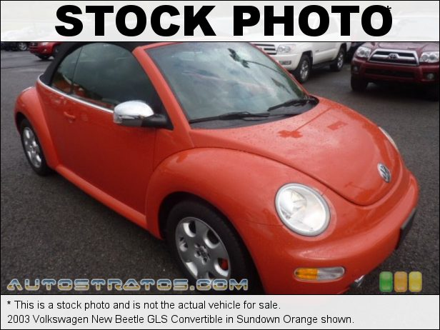 Stock photo for this 2003 Volkswagen New Beetle GLS Convertible 2.0 Liter SOHC 8-Valve 4 Cylinder 6 Speed Tiptronic Automatic