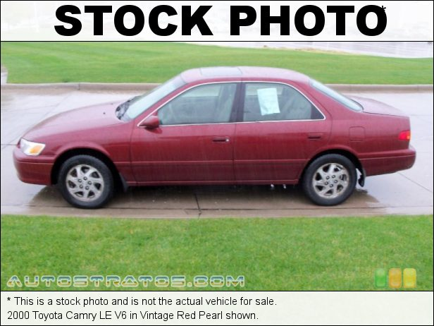 Stock photo for this 2000 Toyota Camry LE V6 3.0 Liter DOHC 24-Valve V6 4 Speed Automatic