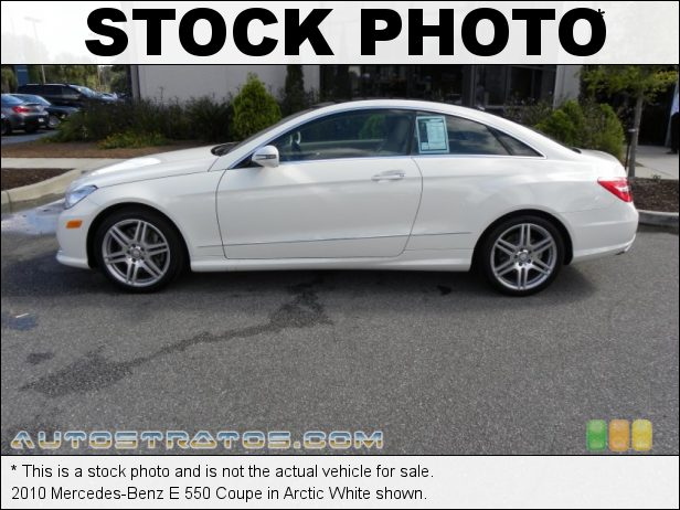 Stock photo for this 2010 Mercedes-Benz E 550 Coupe 5.5 Liter DOHC 32-Valve VVT V8 7 Speed Automatic