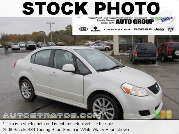 Stock photo for this 2009 Suzuki SX4 Sedan 2.0 Liter DOHC 16-Valve 4 Cylinder 4 Speed Automatic