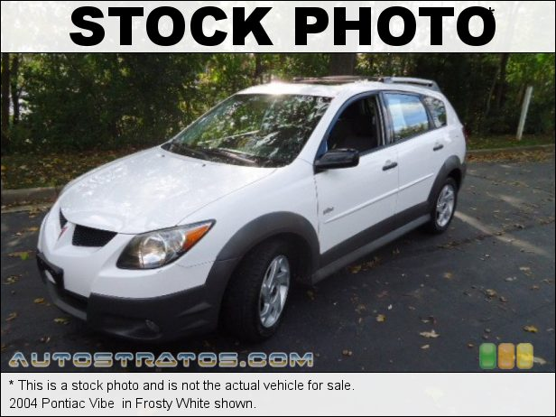 Stock photo for this 2004 Pontiac Vibe  1.8 Liter DOHC 16 Valve VVT-i 4 Cylinder 4 Speed Automatic