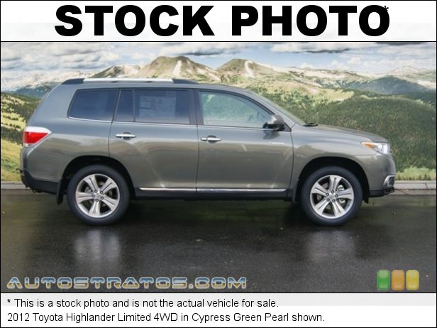 Stock photo for this 2012 Toyota Highlander Limited 4WD 3.5 Liter DOHC 24-Valve Dual VVT-i V6 5 Speed ECT-i Automatic