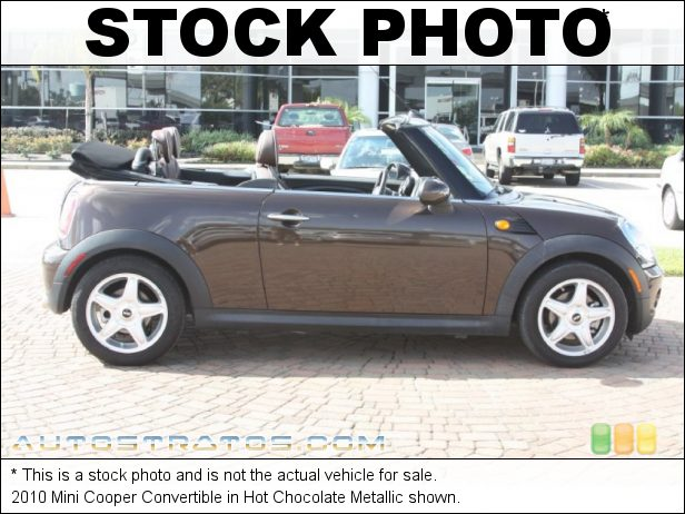 Stock photo for this 2010 Mini Cooper Convertible 1.6 Liter DOHC 16-Valve VVT 4 Cylinder 6 Speed Manual