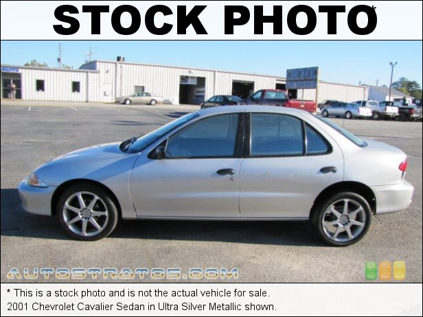 Stock photo for this 2001 Chevrolet Cavalier Sedan 2.2 Liter OHV 8-Valve 4 Cylinder 4 Speed Automatic