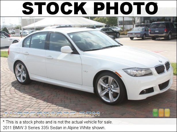 Stock photo for this 2011 BMW 3 Series 335i Sedan 3.0 Liter DI TwinPower Turbocharged DOHC 24-Valve VVT Inline 6 C 6 Speed Steptronic Automatic
