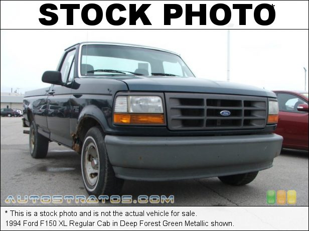 Stock photo for this 1994 Ford F150 XL Regular Cab 4.9 Liter OHV 12-Valve Inline 6 Cylinder 4 Speed Automatic