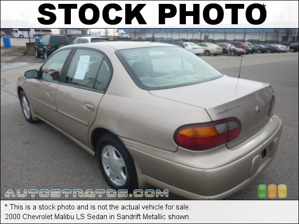 Stock photo for this 2000 Chevrolet Malibu LS Sedan 3.1 Liter OHV 12-Valve V6 4 Speed Automatic