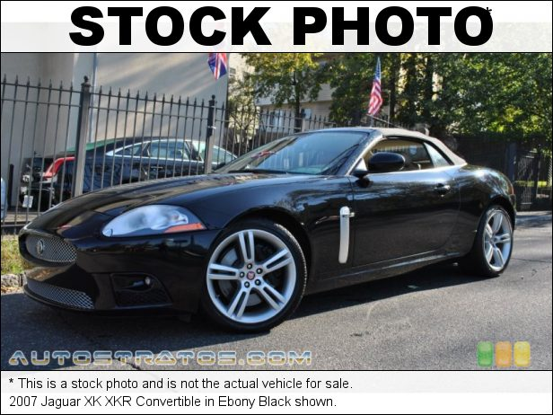 Stock photo for this 2007 Jaguar XK XKR Convertible 4.2L Supercharged DOHC 32V VVT V8 6 Speed ZF Automatic