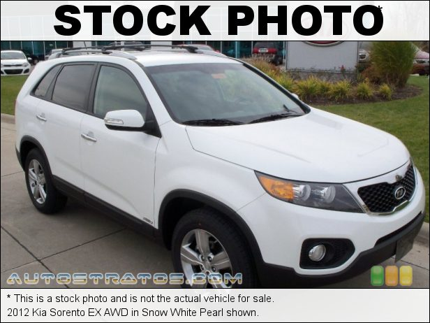 Stock photo for this 2012 Kia Sorento EX AWD 2.4 Liter GDI DOHC 16-Valve Dual CVVT 4 Cylinder 6 Speed Sportmatic Automatic