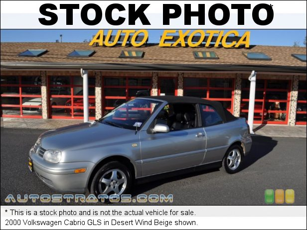 Stock photo for this 2000 Volkswagen Cabrio GLS 2.0 Liter SOHC 8-Valve 4 Cylinder 4 Speed Automatic