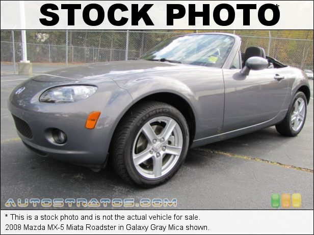Stock photo for this 2008 Mazda MX-5 Miata Roadster 2.0 Liter DOHC 16V VVT 4 Cylinder 5 Speed Manual
