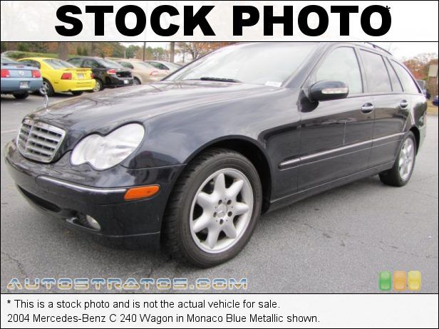 Stock photo for this 2004 Mercedes-Benz C 240 Wagon 2.6 Liter SOHC 18-Valve V6 5 Speed Automatic