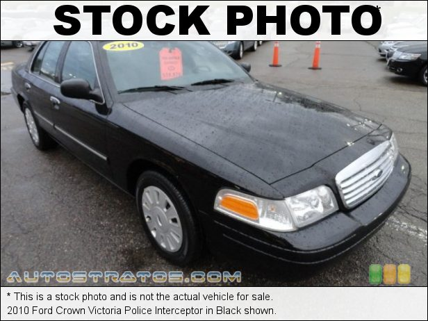 Stock photo for this 2010 Ford Crown Victoria Police Interceptor 4.6 Liter SOHC 16-Valve Flex-Fuel V8 4 Speed Automatic