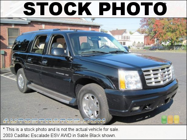 Stock photo for this 2003 Cadillac Escalade ESV AWD 6.0 Liter OHV 16-Valve V8 4 Speed Automatic