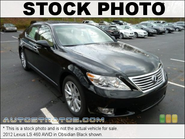 Stock photo for this 2012 Lexus LS 460 AWD 4.6 Liter DI DOHC 32-Valve VVT-iE V8 8 Speed ECT-i Automatic