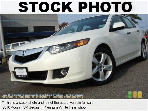 Stock photo for this 2010 Acura TSX Sedan 2.4 Liter DOHC 16-Valve i-VTEC 4 Cylinder 5 Speed Automatic