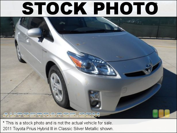 Stock photo for this 2011 Toyota Prius Hybrid 1.8 Liter DOHC 16-Valve VVT-i 4 Cylinder Gasoline/Electric Hybri ECVT Automatic