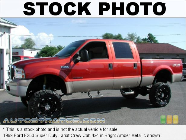 Stock photo for this 1999 Ford F250 Super Duty Crew Cab 4x4 7.3 Liter OHV 16-Valve Power Stroke Turbo diesel V8 5 Speed Manual