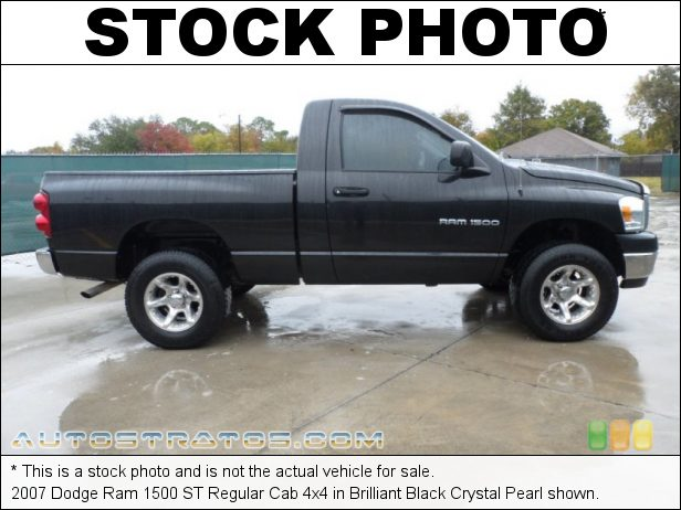 Stock photo for this 2007 Dodge Ram 1500 Regular Cab 4x4 4.7 Liter Flex Fuel SOHC 16-Valve V8 5 Speed Automatic