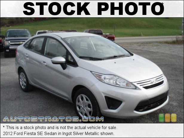 Stock photo for this 2012 Ford Fiesta SE Sedan 1.6 Liter DOHC 16-Valve Ti-VCT Duratec 4 Cylinder 5 Speed Manual