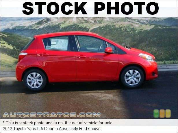 Stock photo for this 2012 Toyota Yaris L 5 Door 1.5 Liter DOHC 16-Valve VVT-i 4 Cylinder 4 Speed Automatic