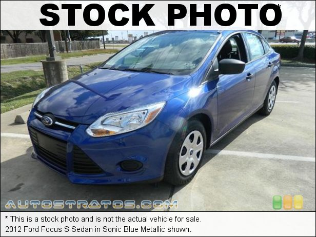 Stock photo for this 2012 Ford Focus S Sedan 2.0 Liter GDI DOHC 16-Valve Ti-VCT 4 Cylinder 5 Speed Manual