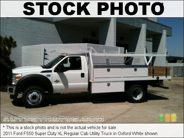 Stock photo for this 2011 Ford F550 Super Duty XL Regular Cab 6.7 Liter OHV 32-Valve B20 Power Stroke Turbo-Diesel V8 6 Speed TorqShift Automatic