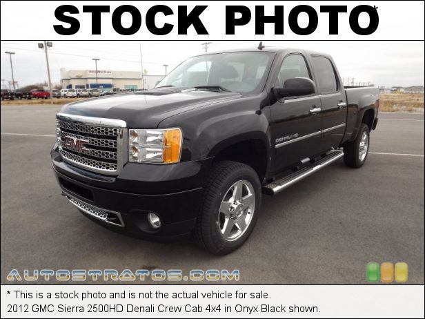Stock photo for this 2012 GMC Sierra 2500HD Denali Crew Cab 4x4 6.6 Liter OHV 32-Valve Duramax Turbo-Diesel V8 6 Speed Allison Automatic