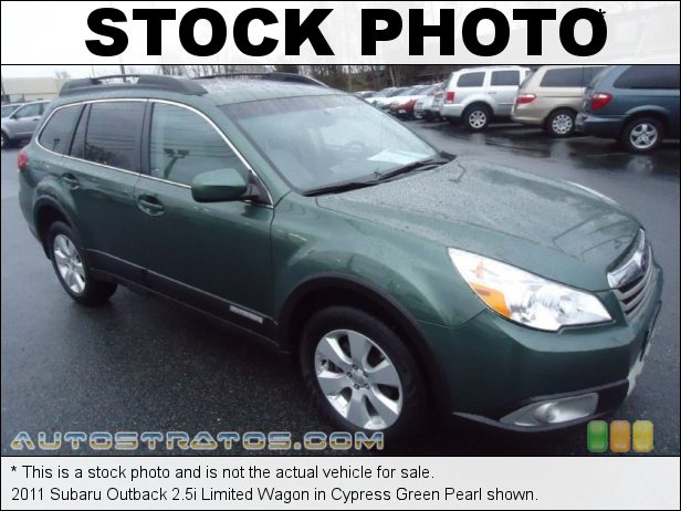 Stock photo for this 2011 Subaru Outback 2.5i Limited Wagon 2.5 Liter SOHC 16-Valve VVT Flat 4 Cylinder Lineartronic CVT Automatic