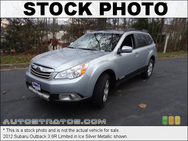 Stock photo for this 2012 Subaru Outback 3.6R Limited 3.6 Liter DOHC 16-Valve VVT Flat 6 Cylinder 5 Speed Automatic