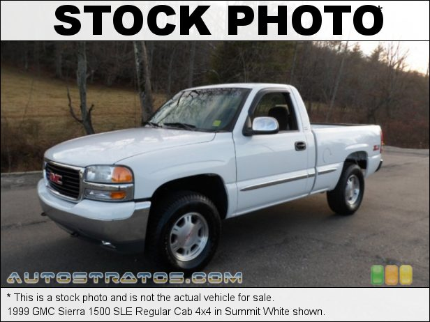 Stock photo for this 1999 GMC Sierra 1500 Regular Cab 5.3 Liter OHV 16-Valve Vortec V8 4 Speed Automatic