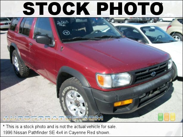 Stock photo for this 1999 Nissan Pathfinder 4x4 3.3 Liter SOHC 12-Valve V6 4 Speed Automatic