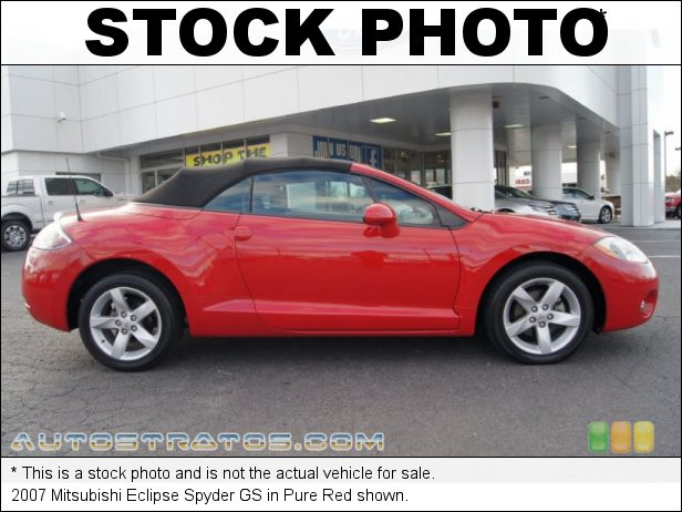 Stock photo for this 2009 Mitsubishi Eclipse Spyder GS 2.4 Liter SOHC 16-Valve MIVEC 4 Cylinder 4 Speed Sportronic Automatic