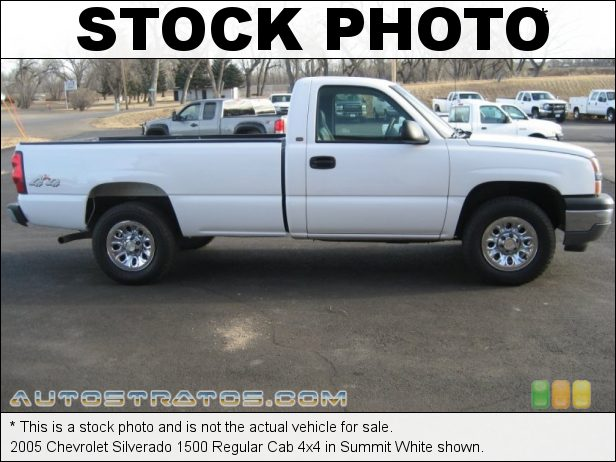 Stock photo for this 2005 Chevrolet Silverado 1500 Regular Cab 4x4 4.8 Liter OHV 16-Valve Vortec V8 4 Speed Automatic