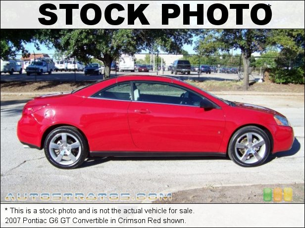 Stock photo for this 2007 Pontiac G6 GT Convertible 3.9 Liter OHV 12-Valve V6 4 Speed Automatic