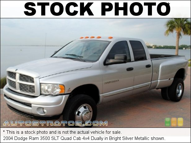 Stock photo for this 2004 Dodge Ram 3500 Quad Cab 4x4 Dually 5.9 Liter OHV 24-Valve Cummins Turbo Diesel Inline 6 Cylinder 6 Speed Manual