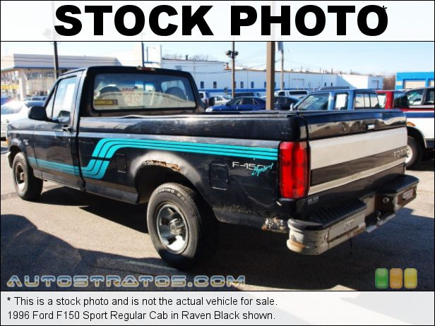 Stock photo for this 1996 Ford F150 Regular Cab 4.9 Liter OHV 12-Valve Inline 6 Cylinder 4 Speed Automatic