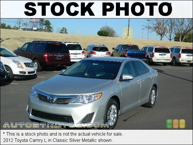 Stock photo for this 2012 Toyota Camry  2.5 Liter DOHC 16-Valve Dual VVT-i 4 Cylinder 6 Speed ECT-i Automatic