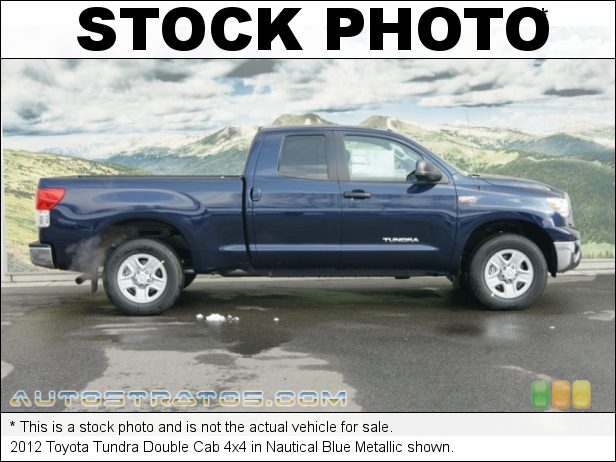 Stock photo for this 2012 Toyota Tundra Double Cab 4x4 5.7 Liter DOHC 32-Valve Dual VVT-i V8 6 Speed ECT-i Automatic